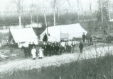 Camp 4 of the Michigan State Telephone Company, located on the Brule River in northeastern...