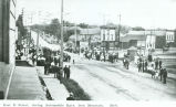 East B Street, during Automobile Race, Iron Mountain, Mich.