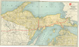 Upper Peninsula of Michigan map